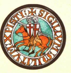 Znak  řádu - dva jezdci na jediném koni