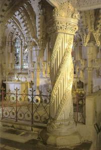 Učednický sloup v Rosslynské kapli